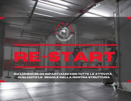 RE-START: da lunedì ripartono tutte le attività